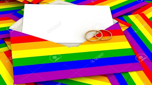 Cover - Rainbow Envelopes with two rings