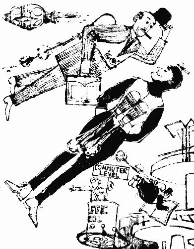 Men flying with jet packs
