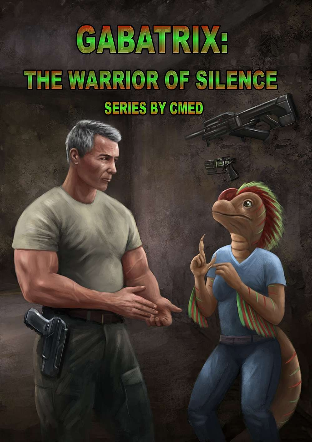 Cover - Human soldier looking at an alien female